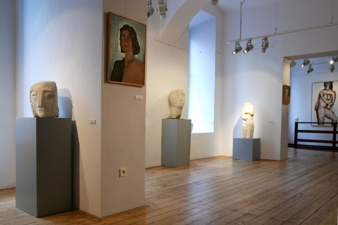 Z výstavy Miloslava Chlupáče v Galerii U Betlémské kaple