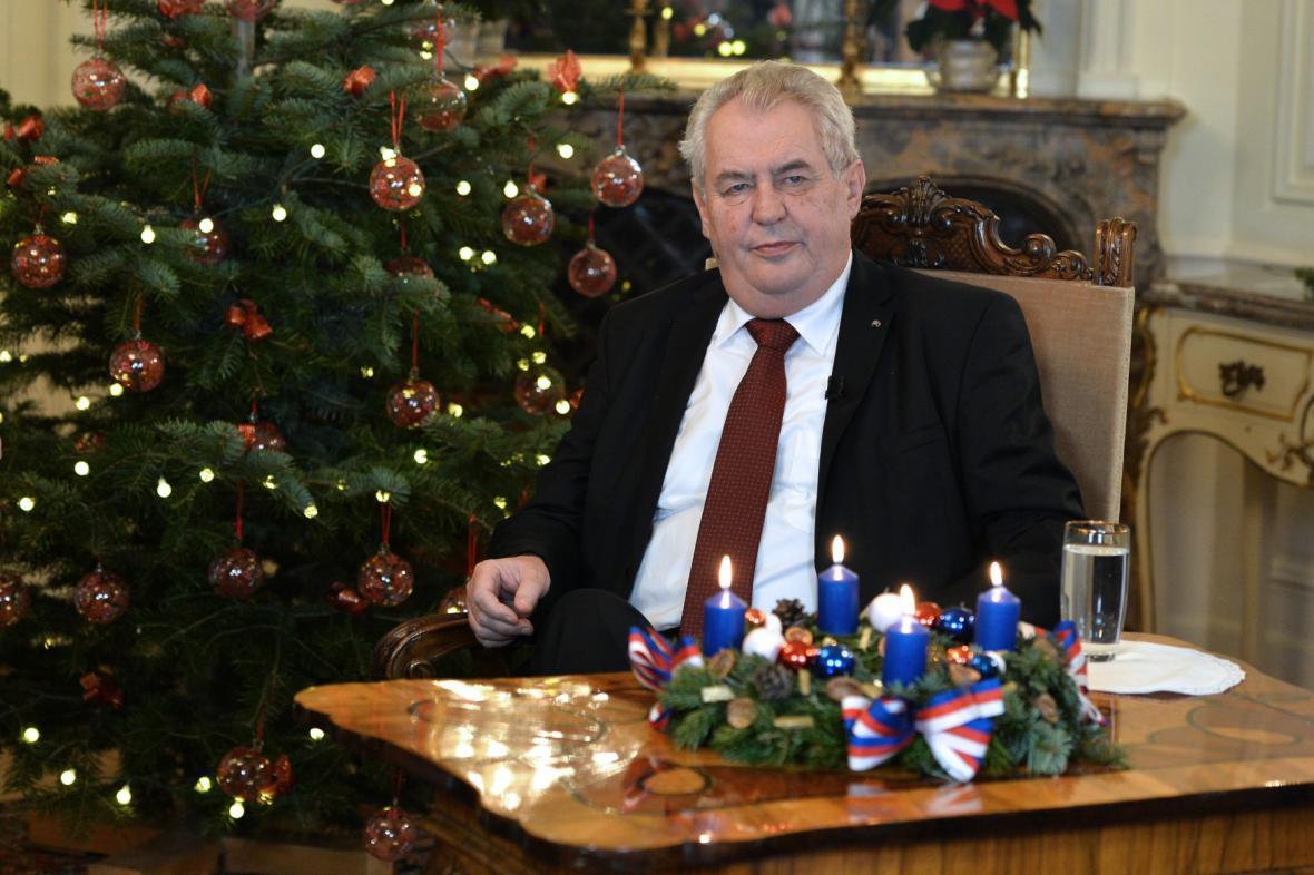 Miloš Zeman na Pražském hradě