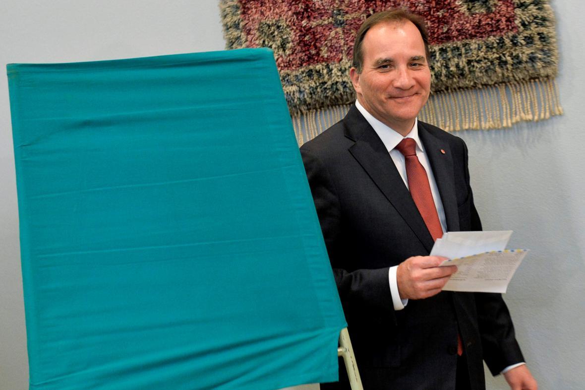 Šéf vítězných sociálních demokratů Stefan Löfven