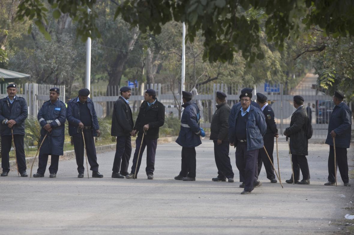 Bezpečnostní pracovníci v Pákistánu