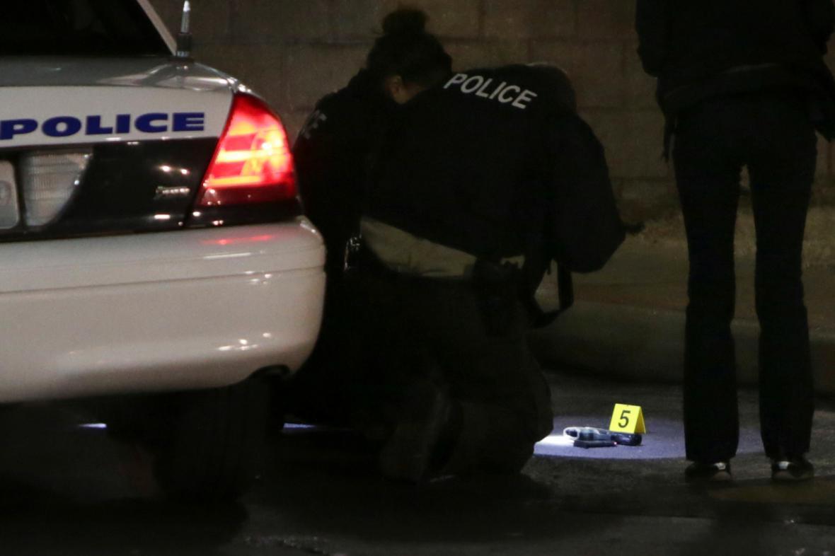 Policie na místě incidentu