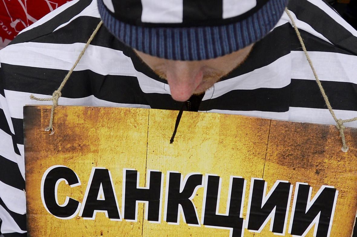 Ruská demonstrace proti sankcím