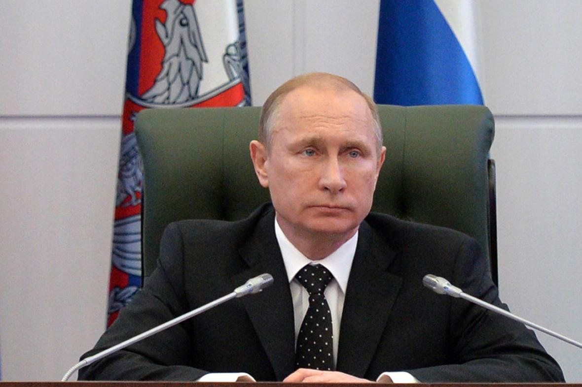 Vladimir Putin na armádní konferenci