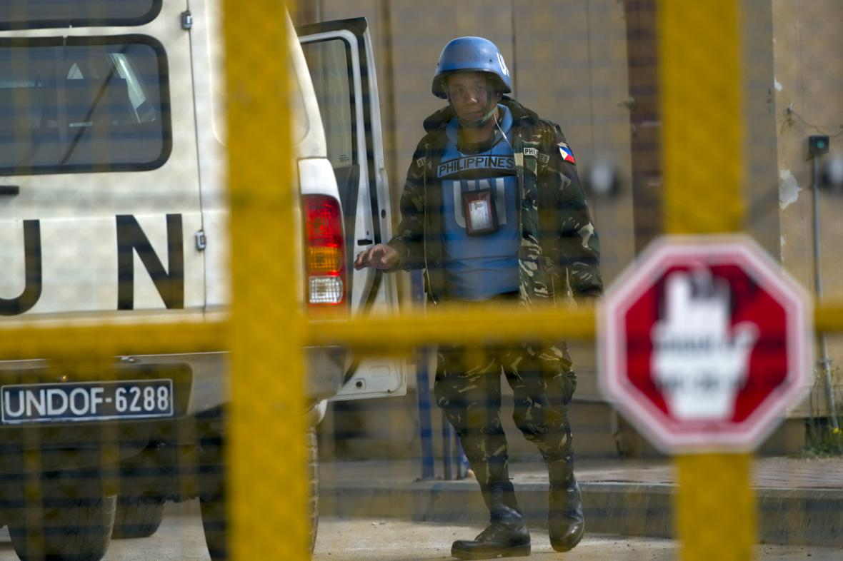 Příslušník mírové mise UNDOF
