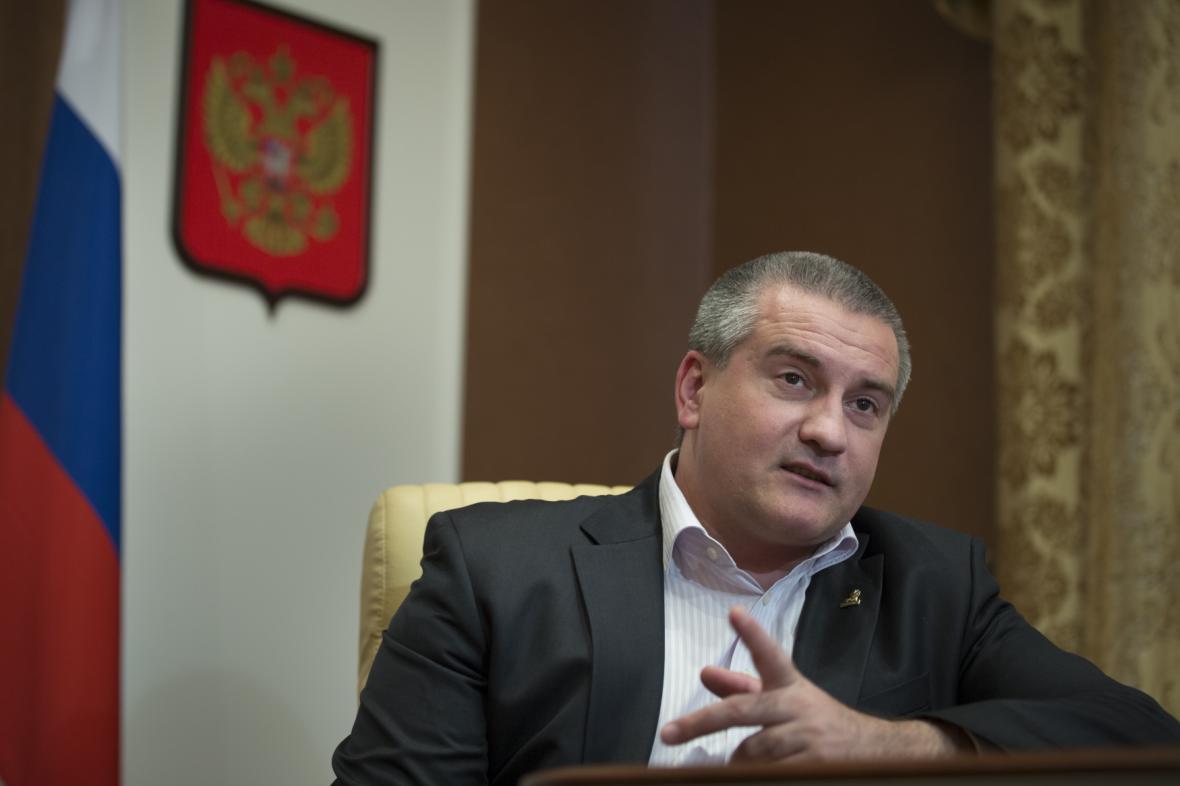 Předseda vlády Autonomní republiky Krym Sergej Aksjonov