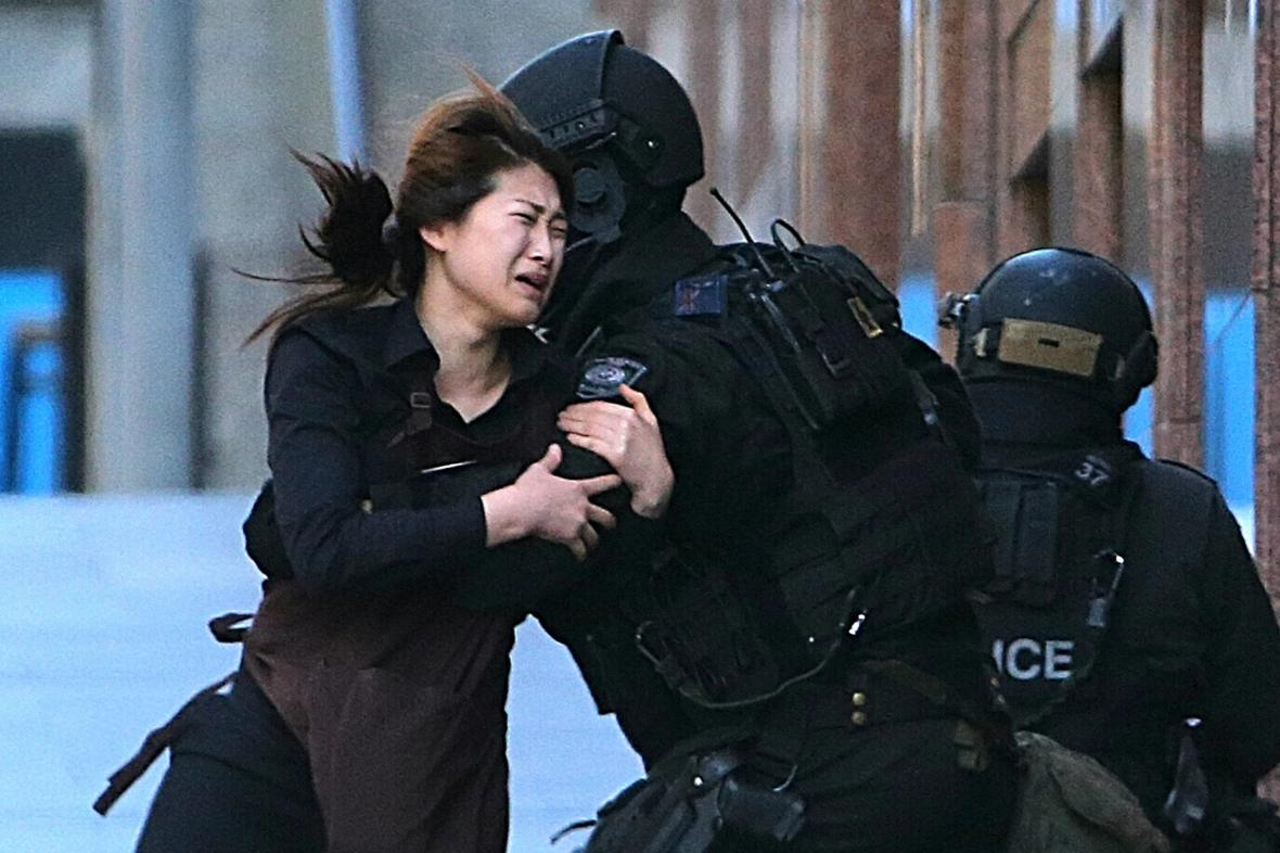 Prchající Jieun Baeová a policie v Sydney