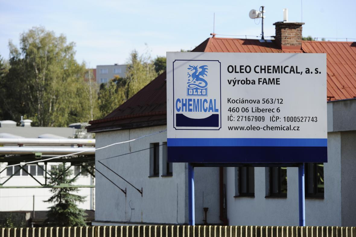 Výrobní závod petrochemické společnosti Oleo Chemical v Liberci