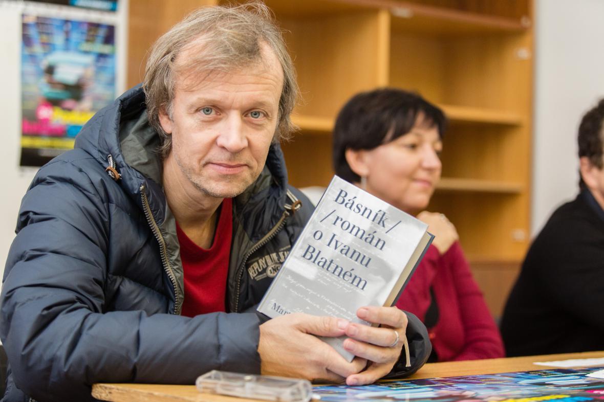 Martin Reiner s románem Básník o Ivanu Blatném