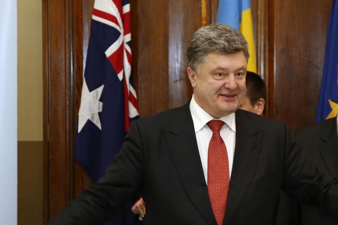Petro Porošenko na návštěvě Austrálie