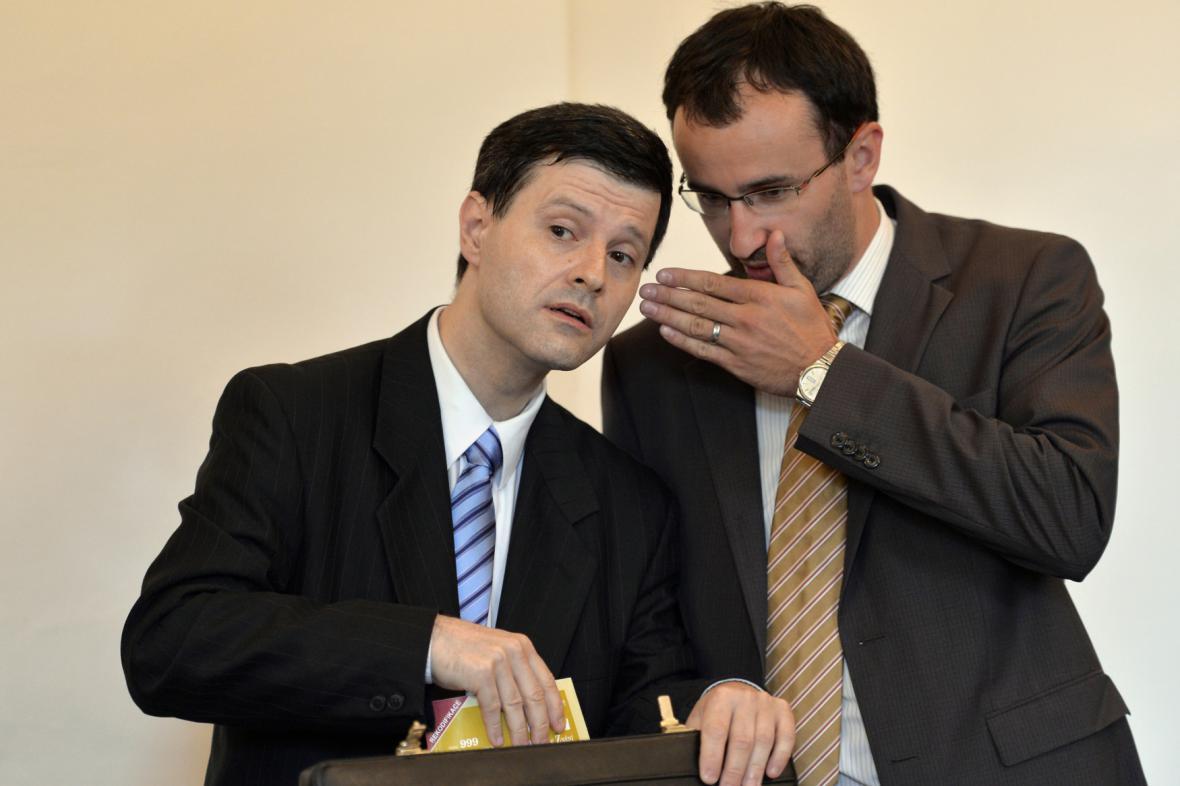 Pavel Hasenkopf a jeho advokát Petr Kočí