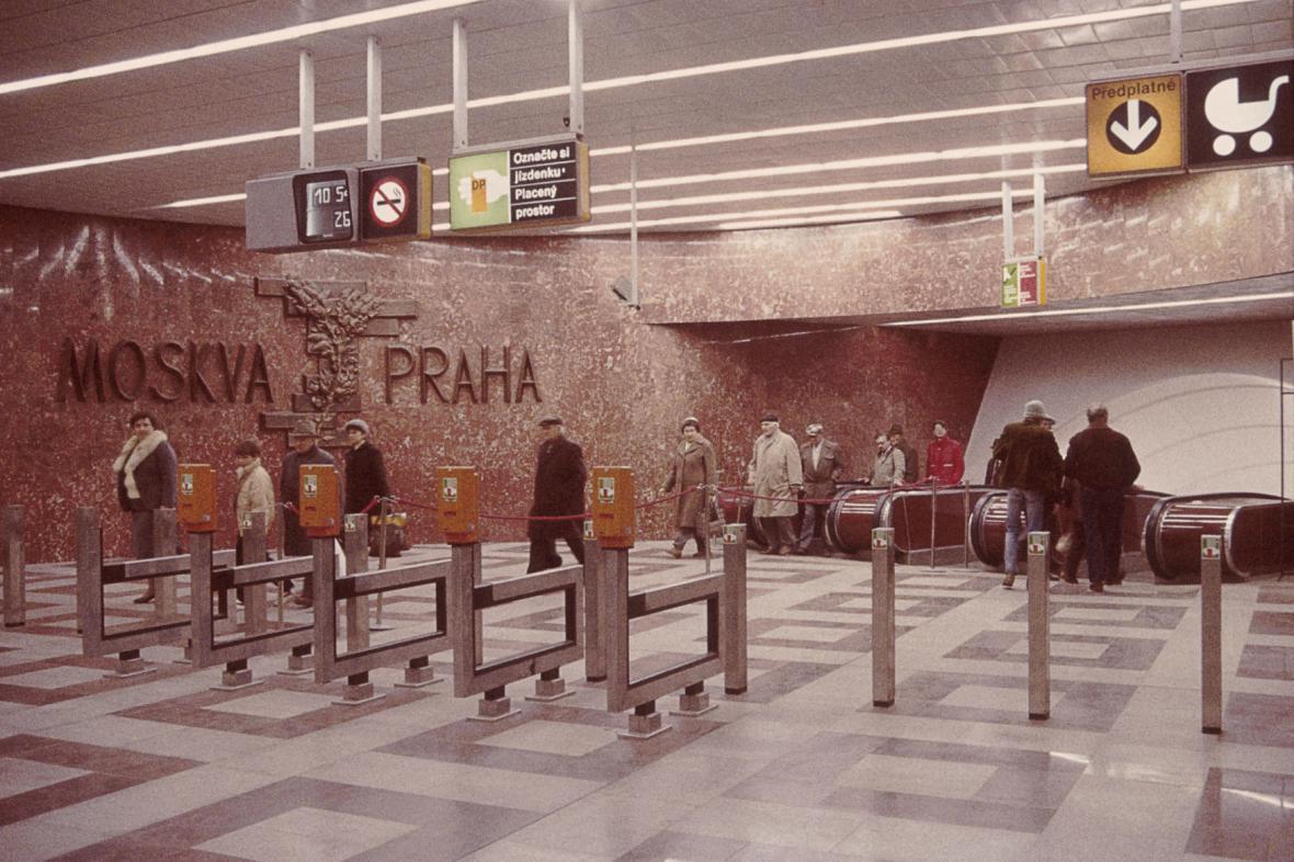 Stanice metra Moskevská (dnes Anděl)