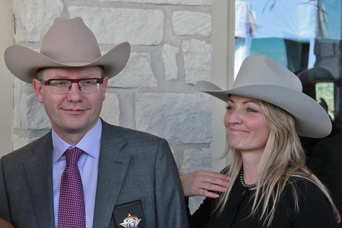 Bohuslav Sobotka s manželkou Olgou při návštěvě Westu