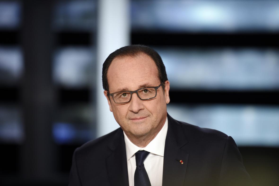 Francoise Hollande ve francouzské televizi