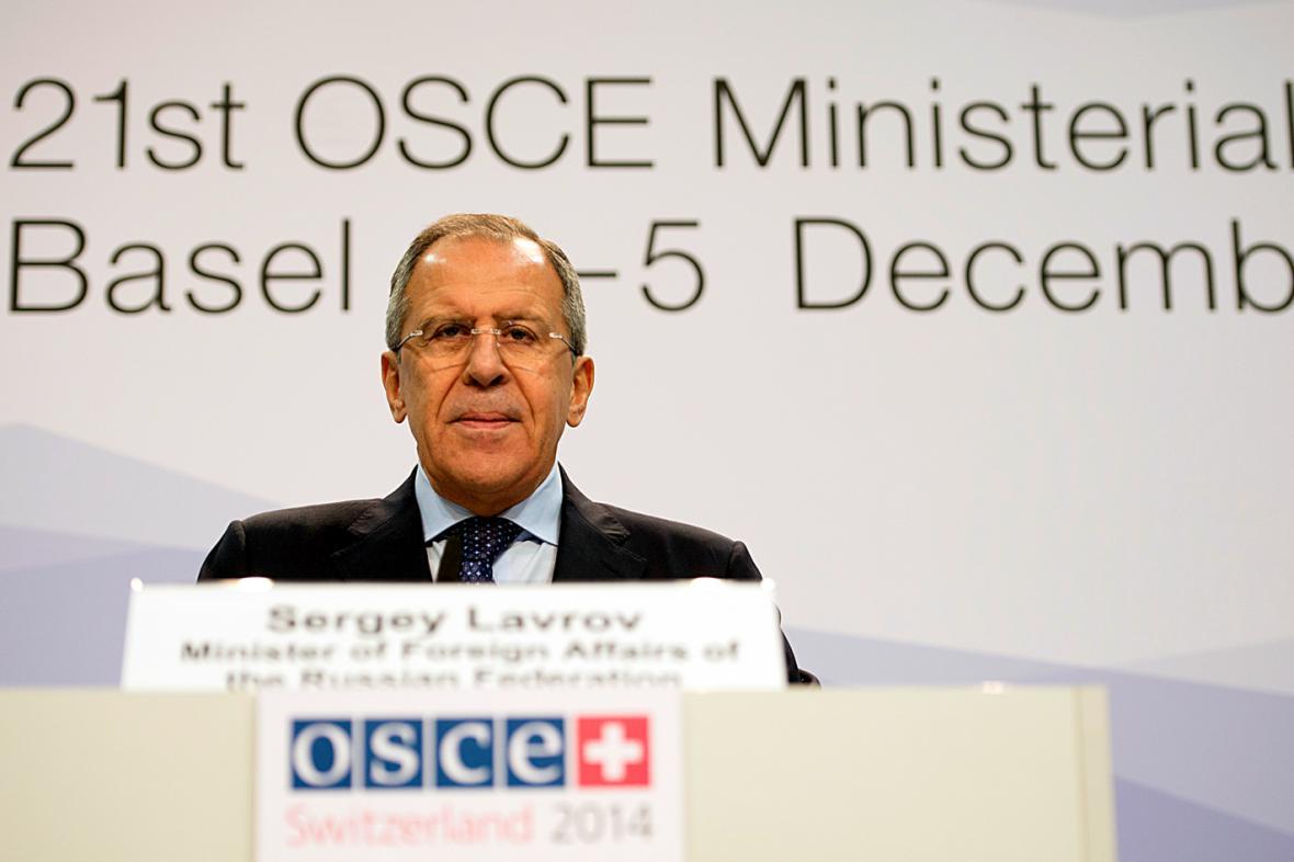 Sergej Lavrov na basilejském jednání OBSE