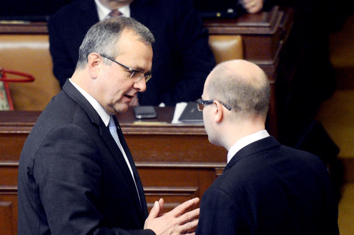 Miroslav Kalousek a Bohuslav Sobotka