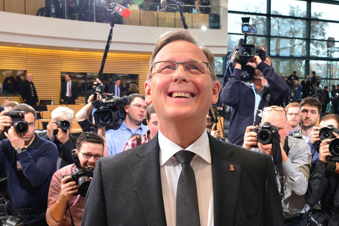 Bodo Ramelow se stal prvním zemským premiérem za Levici