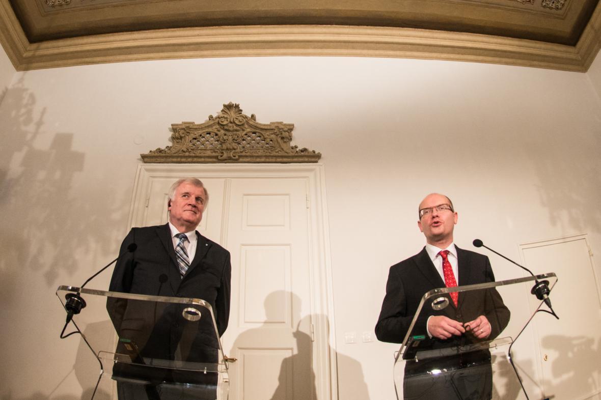 Horst Seehofer a Bohuslav Sobotka