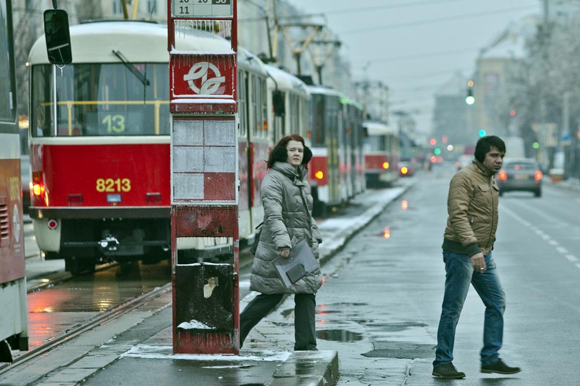 Ledovka v Praze - vyřazená tramvajová doprava