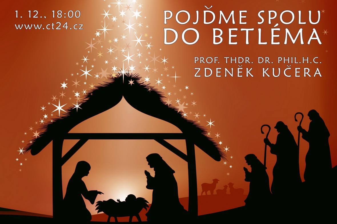 Plakát k přednášce Pojďme spolu do Betléma