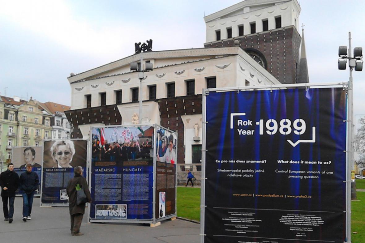 Výstava Rok 1989 na náměstí Jiřího z Poděbrad
