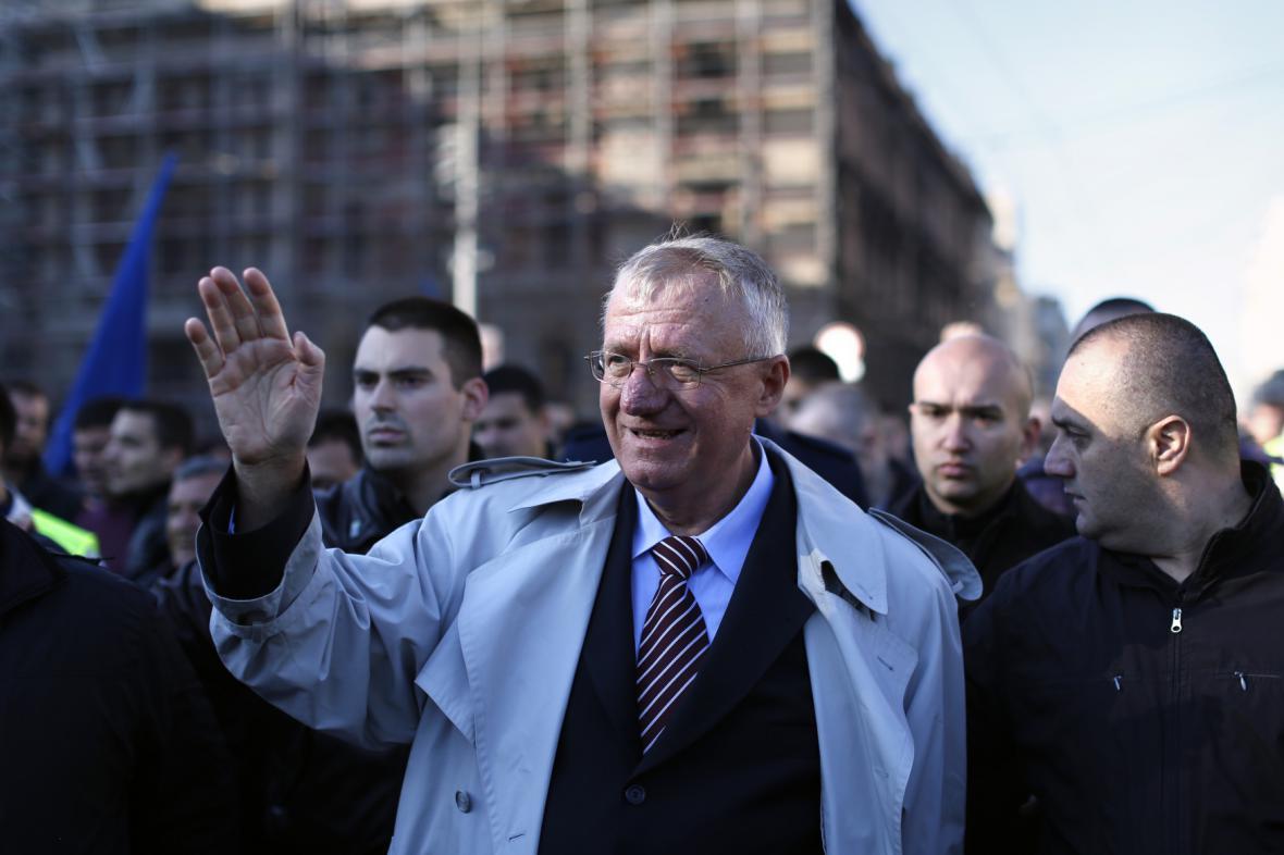 Vojislav Šešelj po návratu do Srbska