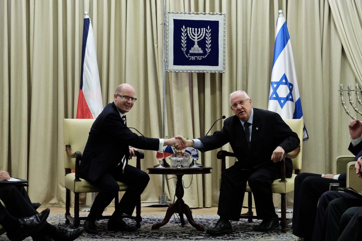 Český premiér na návštěvě Izraele