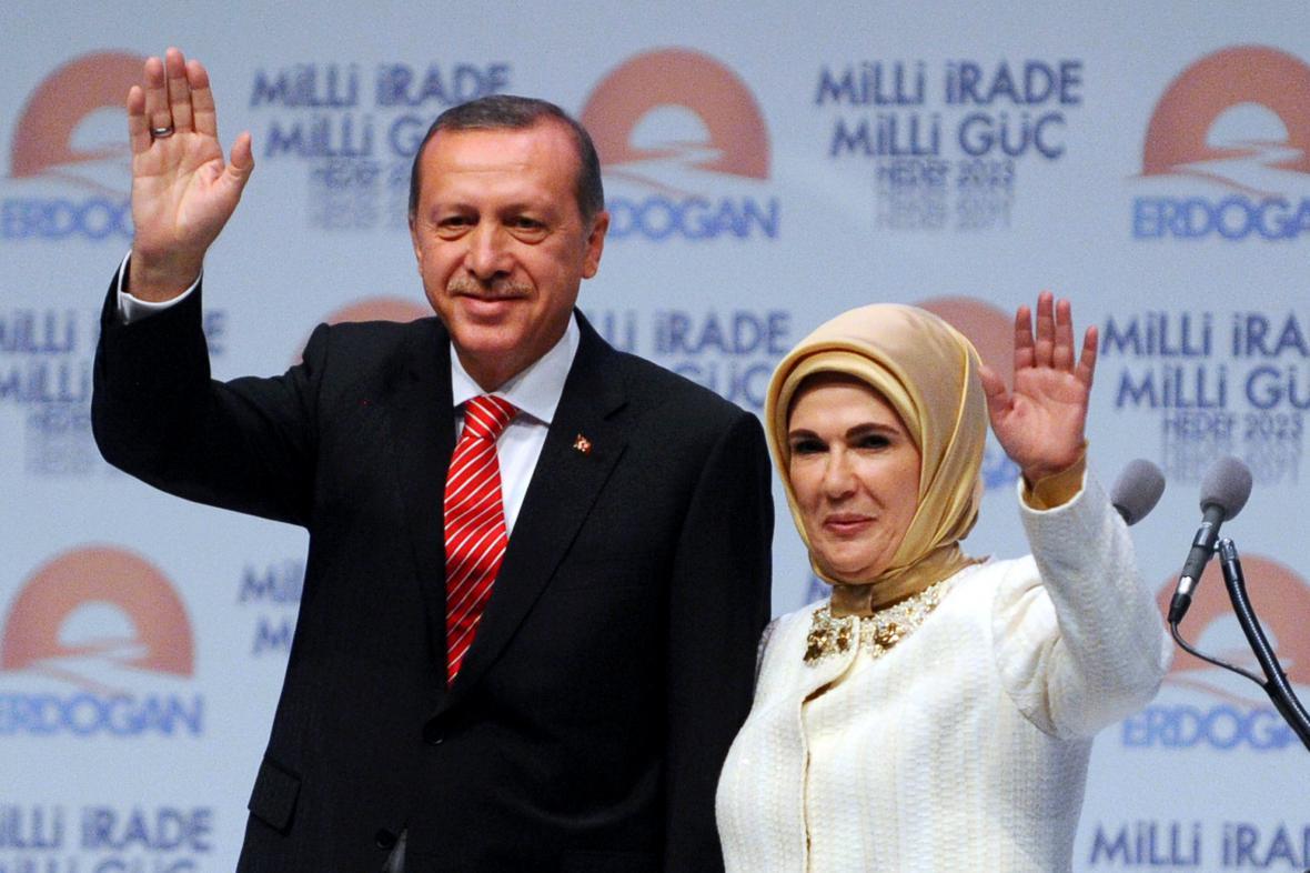 Turecký prezident s manželkou