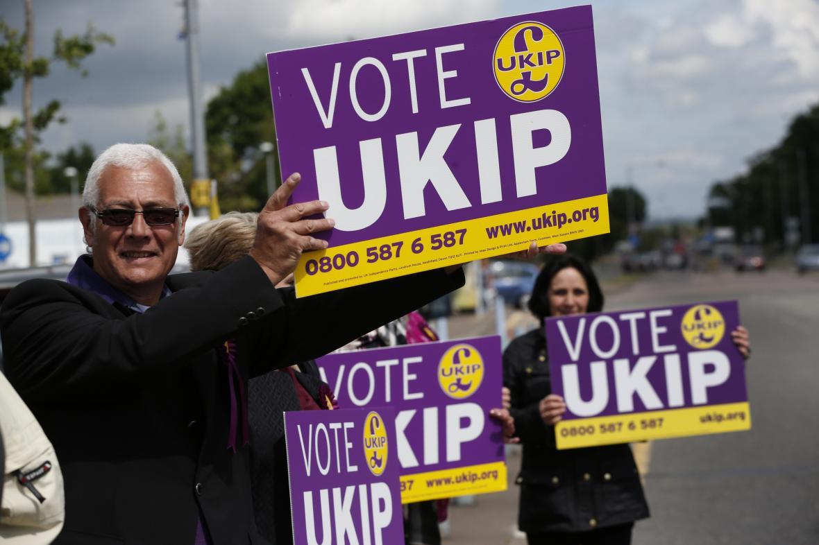 Příznivci britské politické strany UKIP