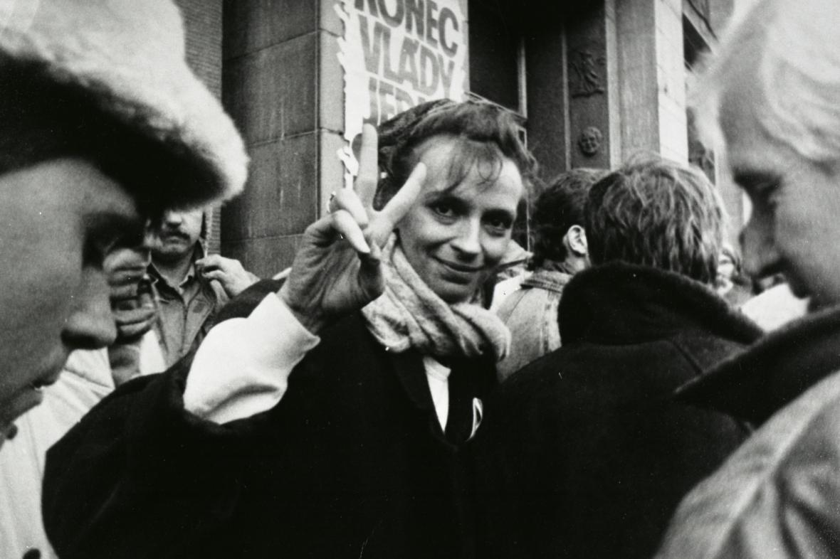 Ivana Chýlková v Ústí nad Labem - 27. 11. 1989