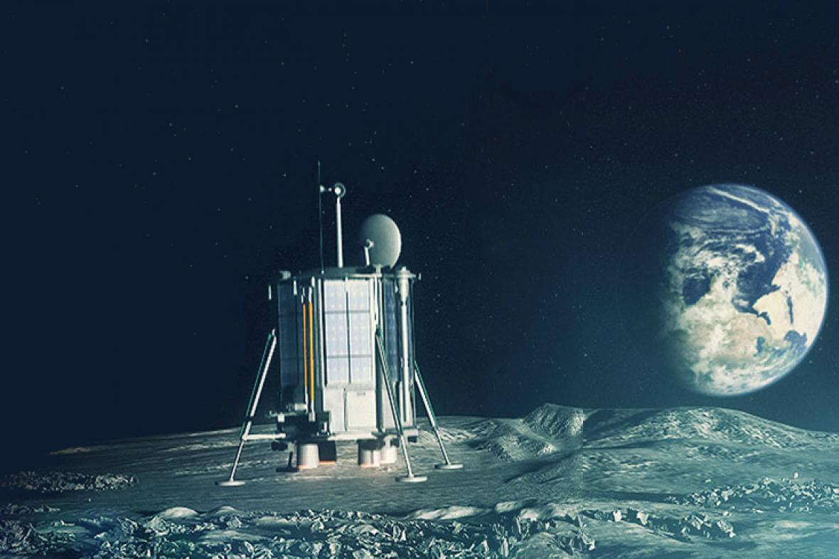 Vizualizace britské expedice na Měsíci