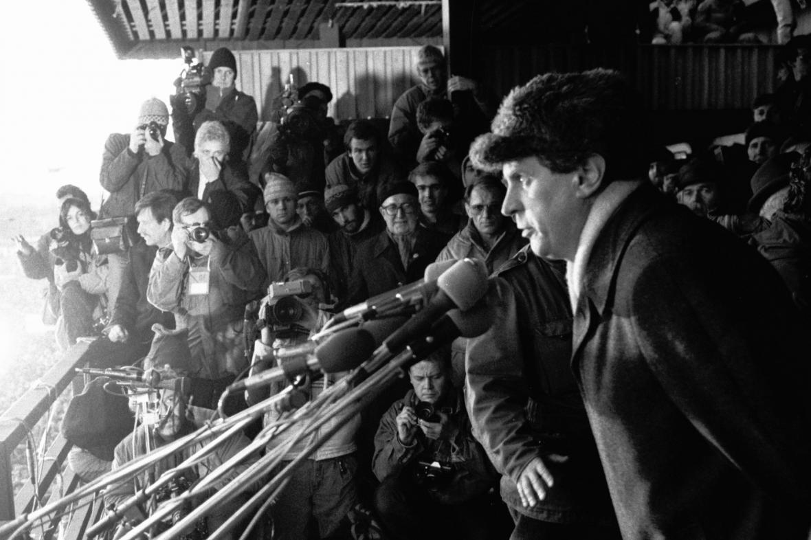 Miloš Zeman v roce 1989