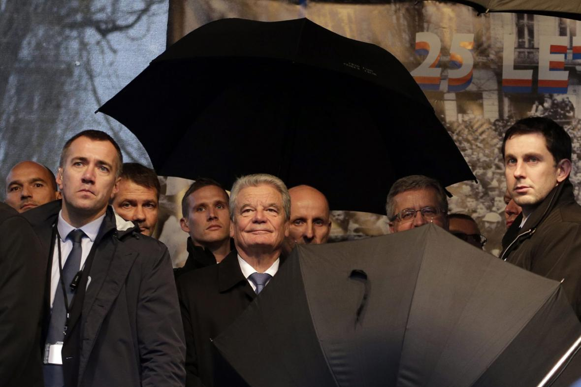 Německý prezident Joachim Gauck na Albertově