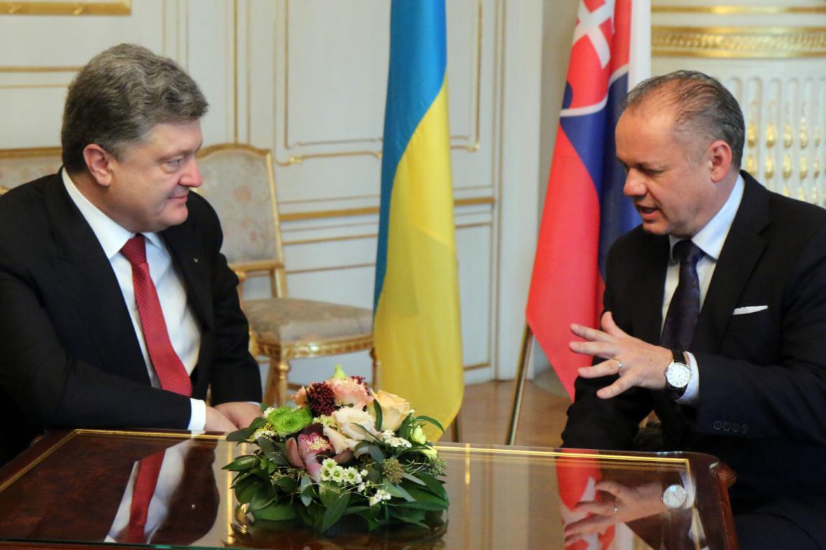 Jednání slovenského a ukrajinského prezidenta v Bratislavě
