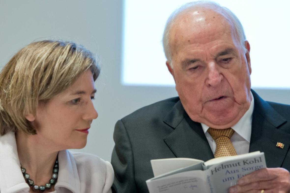 Helmut Kohl a jeho druhá manželka Maike