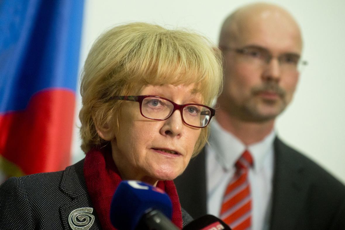 Helena Válková a její náměstek Pavel Štern