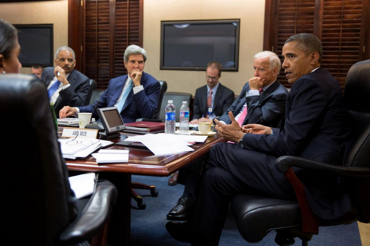 Barack Obama diskutuje o situaci v Sýrii