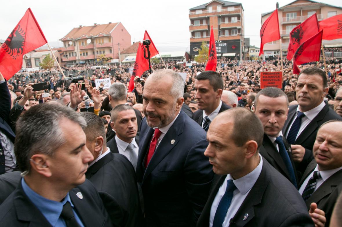 Edi Rama v jihosrbském Preševu