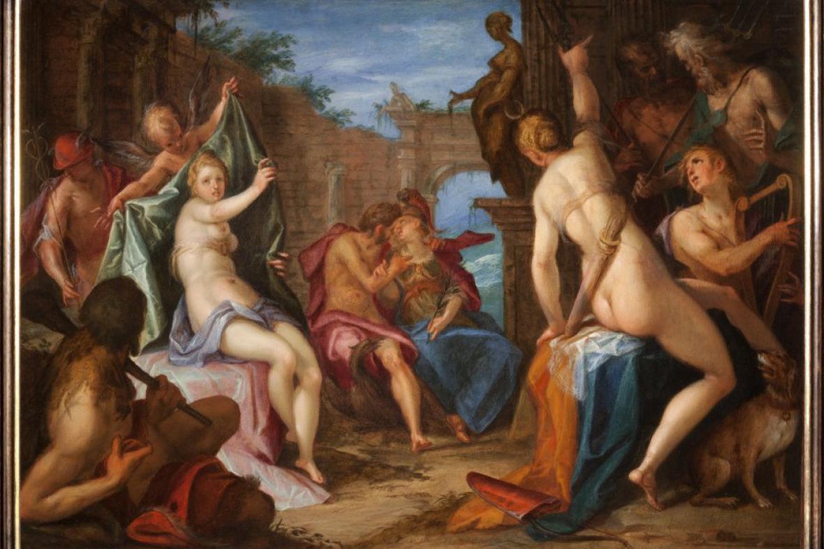 Shromáždění bohů od Hanse von Aachena