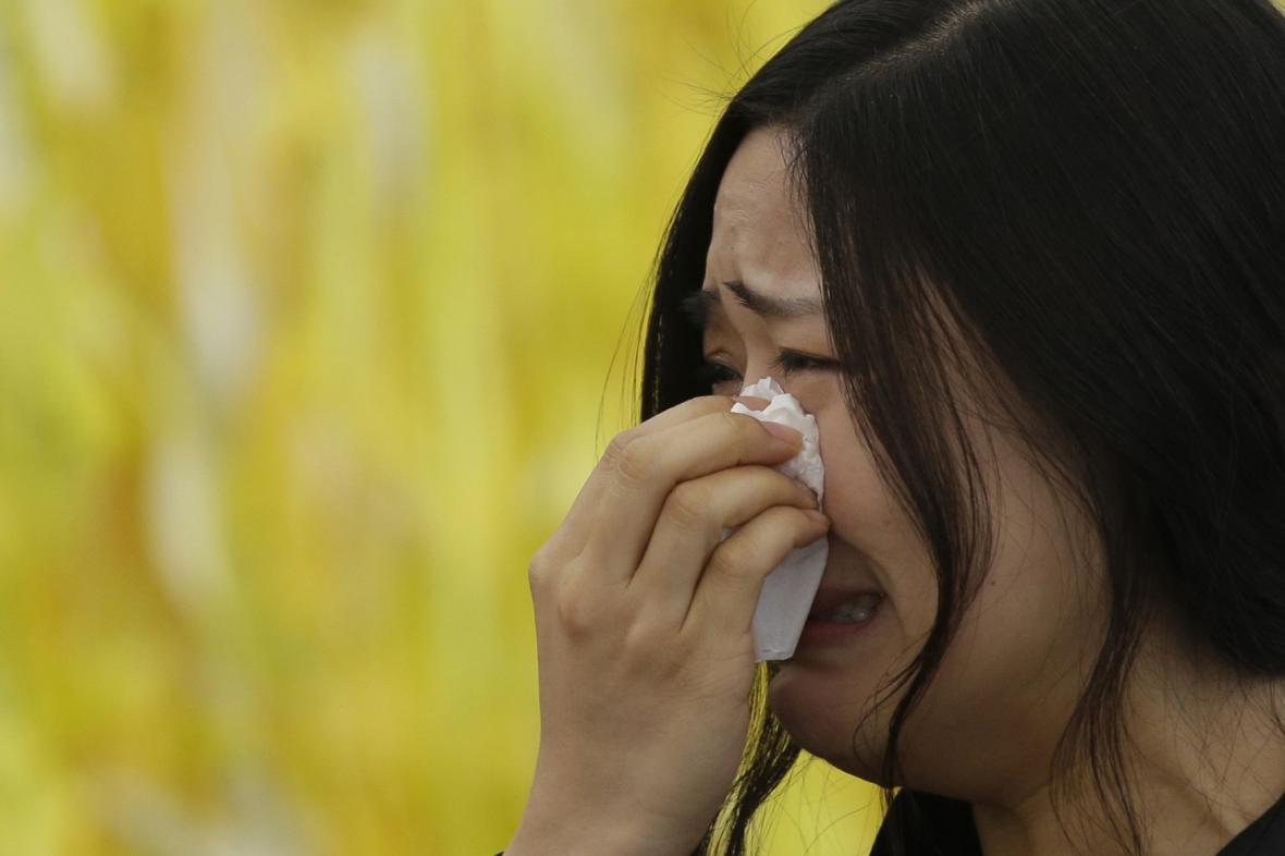 Pozůstalí po obětech havárie jihokorejského trajektu