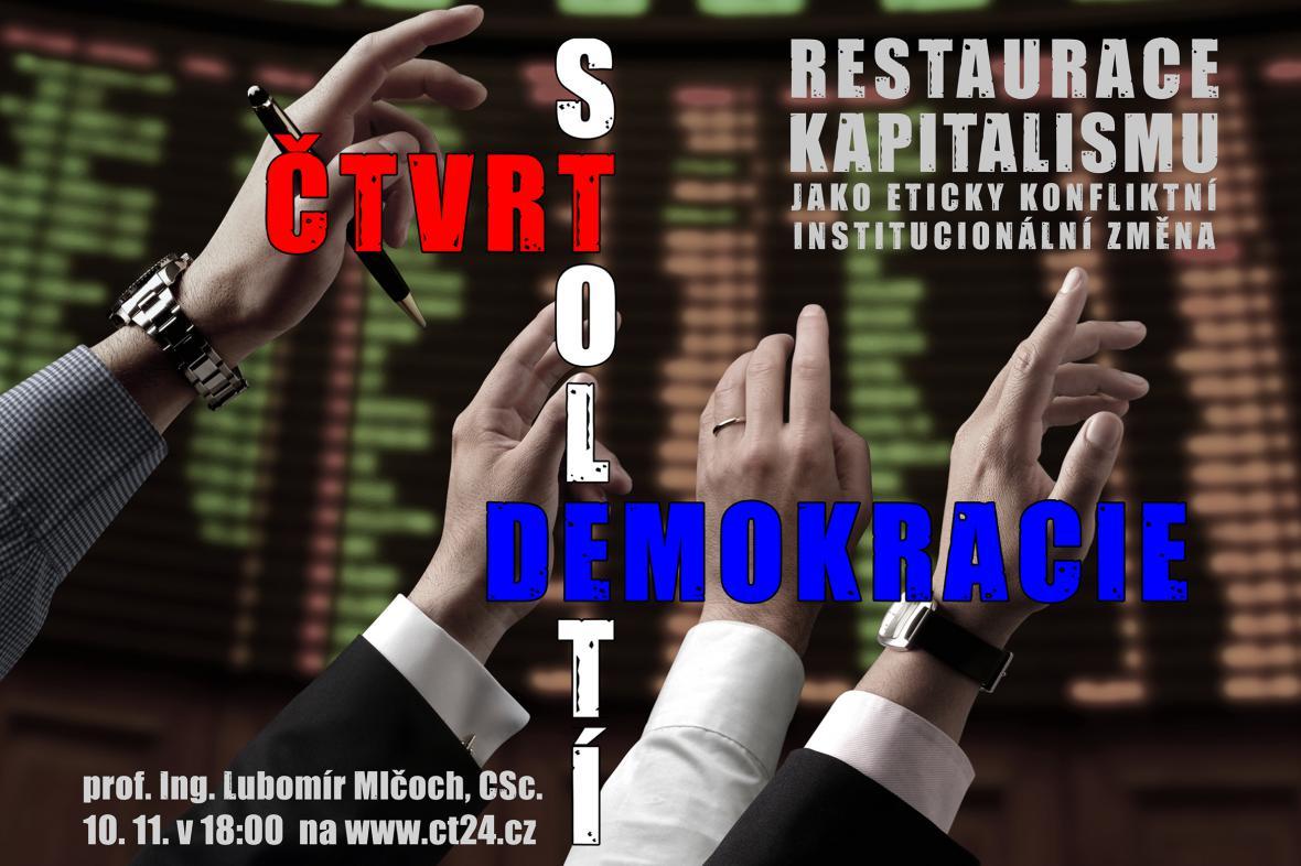Plakát k druhé přednášce Čtvrtstoletí demokracie