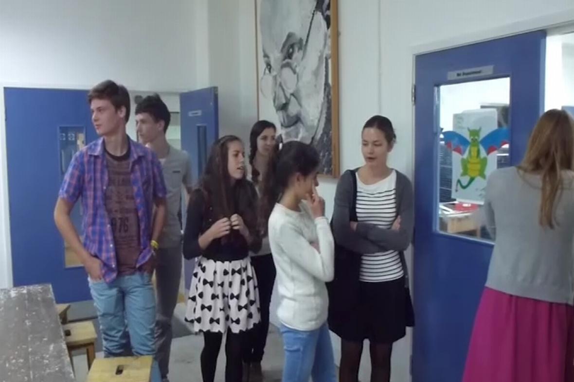 Studenti Gymnázia Příbram na škole v Anglii
