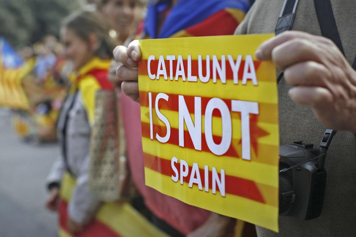 Katalánská demonstrace