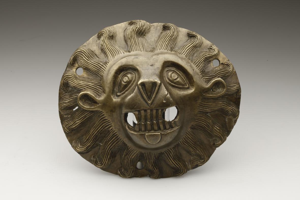 Lví maska klepadla z Ústrašína