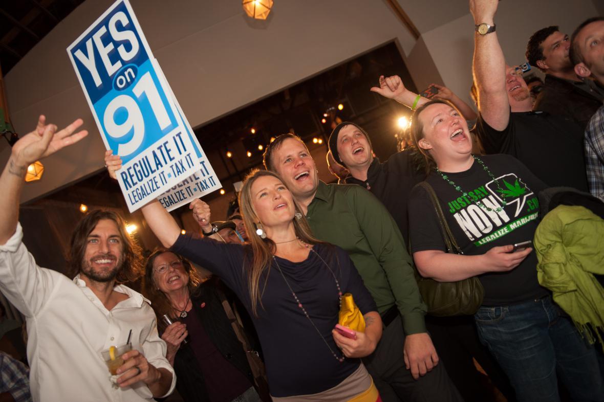 Oslavy legalizace marihuany v Oregonu