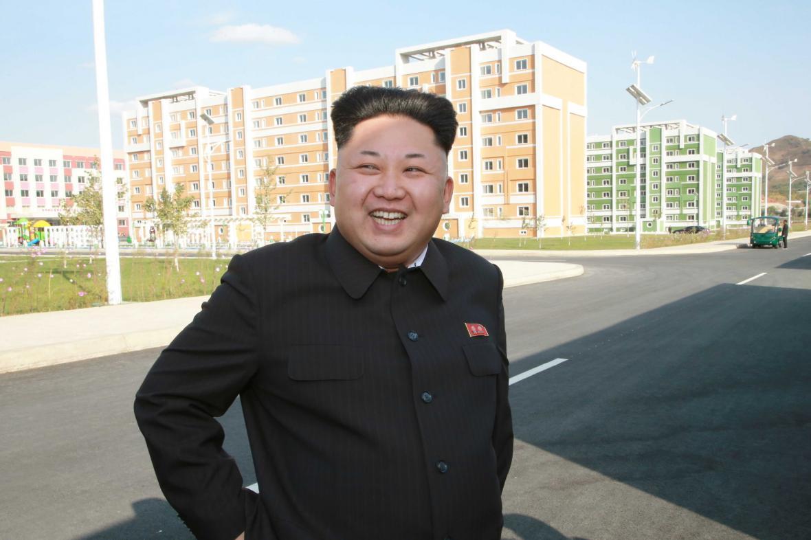 Kim na inspekci  obytných budov pro severokorejské vědce