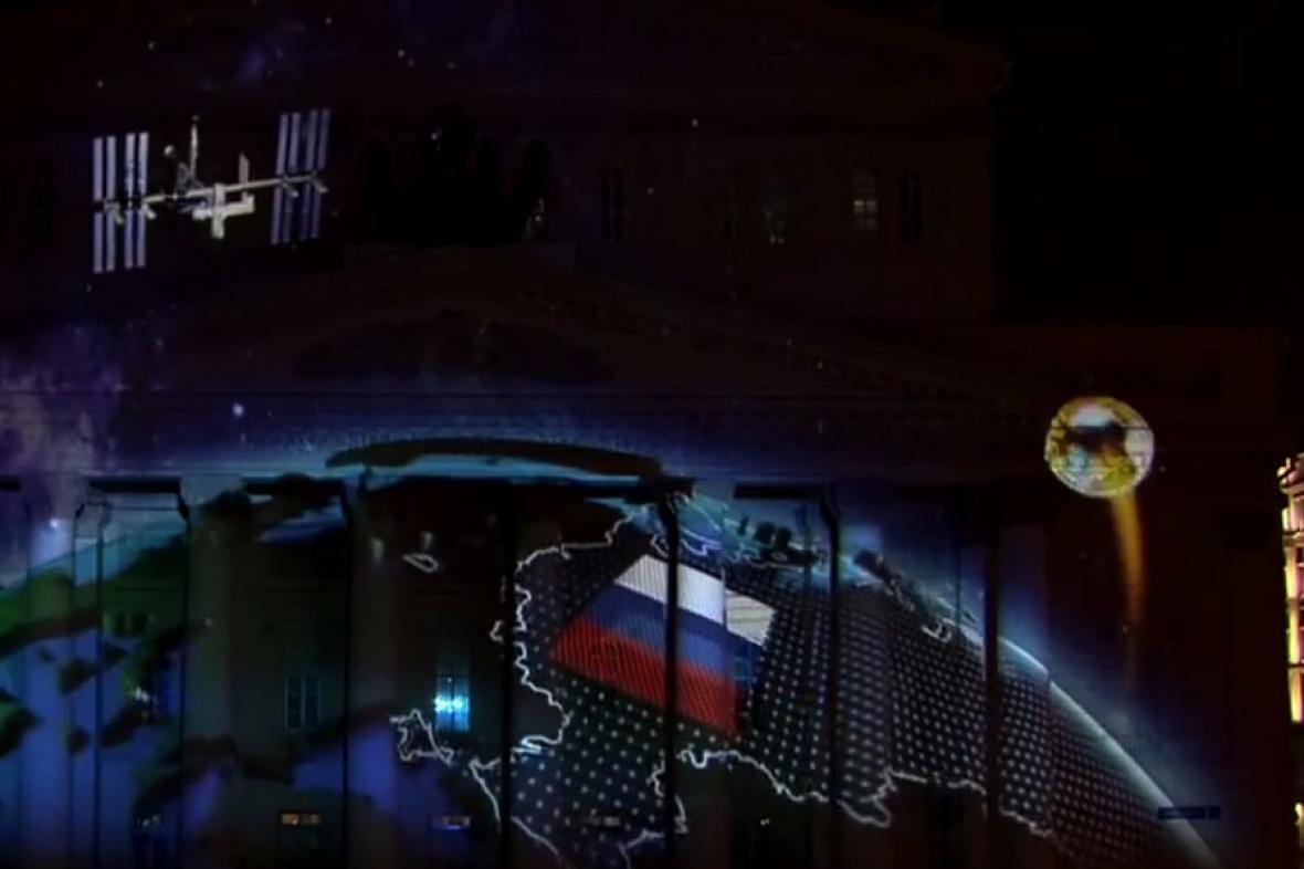 Mapa Ruska v klipu fotbalového šampionátu