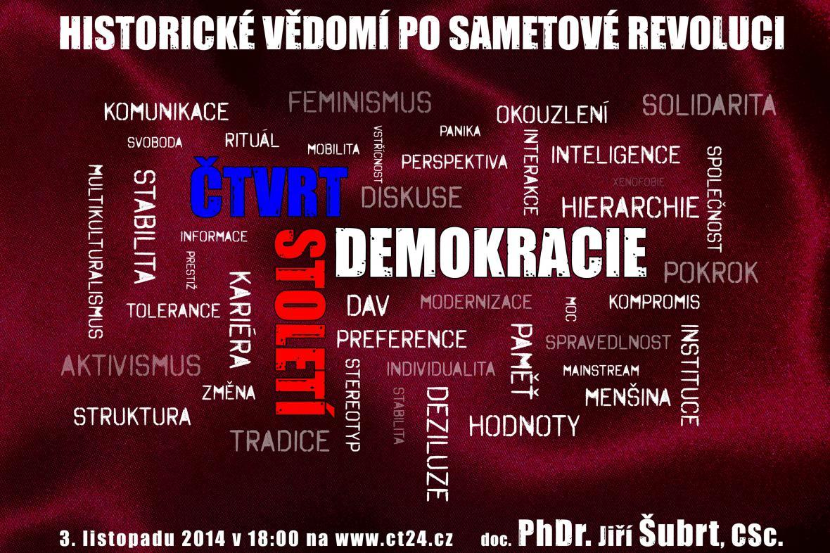 Plakát k cyklu Čtvrtstoletí demokracie