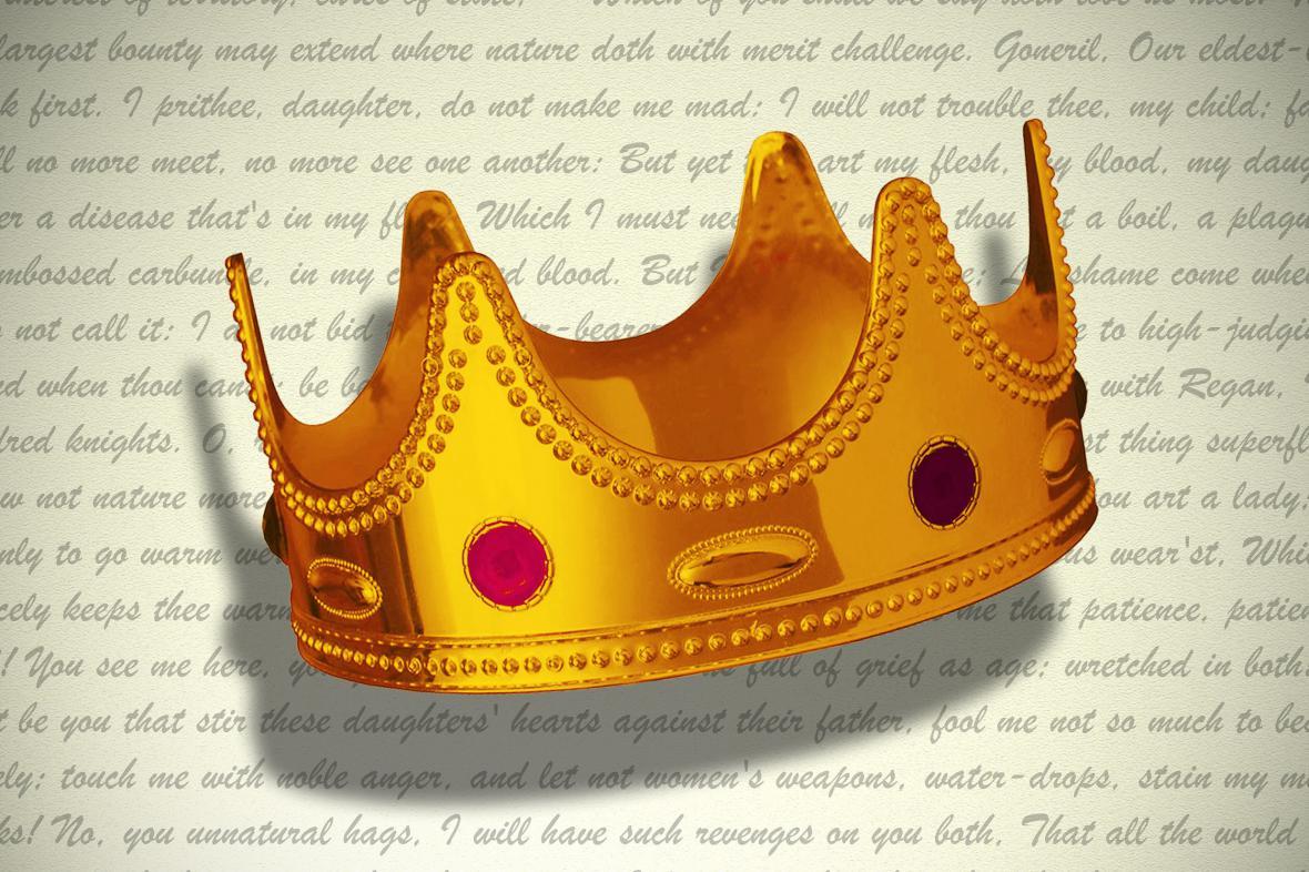 Plakát k přednášce Martina Hilského: Král Lear