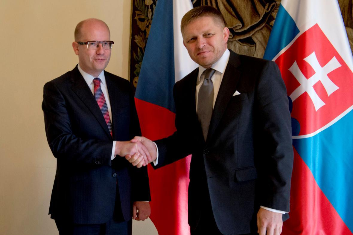 Český a slovenský premiér jednali v Praze