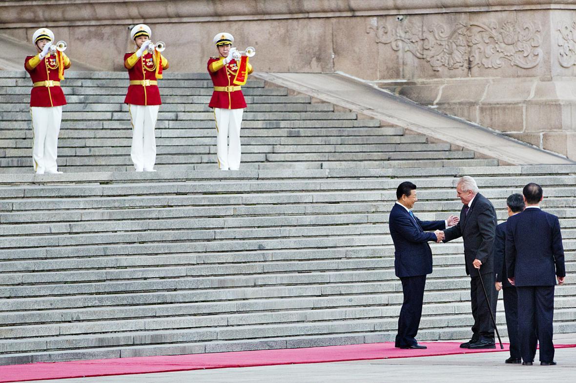 Miloš Zeman na státní návštěvě Číny